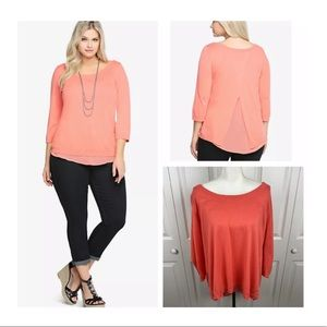 Torrid Double Layer Light Chiffon Tank Sweater Top